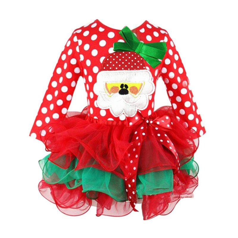 weihnachten kids baby girl red santa reindeer xmas tulle party tutu dress kleid ebay. Black Bedroom Furniture Sets. Home Design Ideas