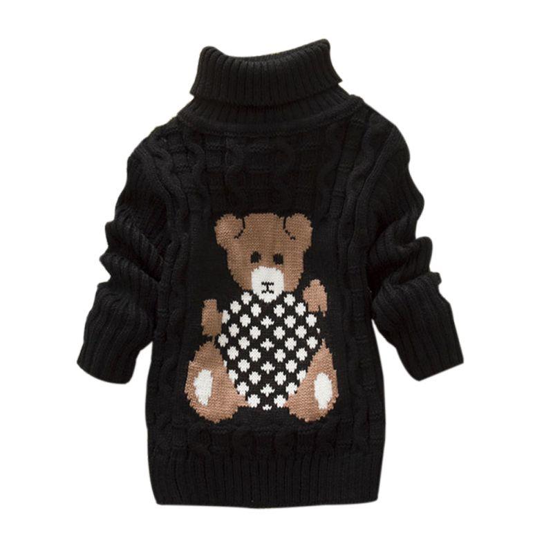 Baby Bear Hoodie Knitting Pattern : Winter Baby Girls Boys Kids Cute Bear Pattern Warm Knitted ...