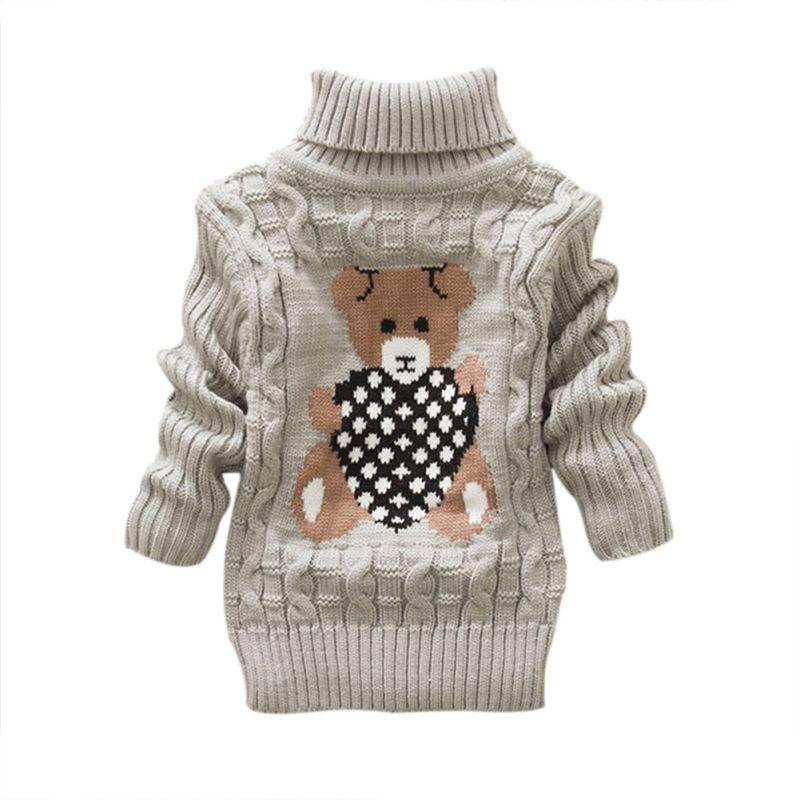 Winter Baby Girls Boys Kids Cute Bear Pattern Warm Knitted ...