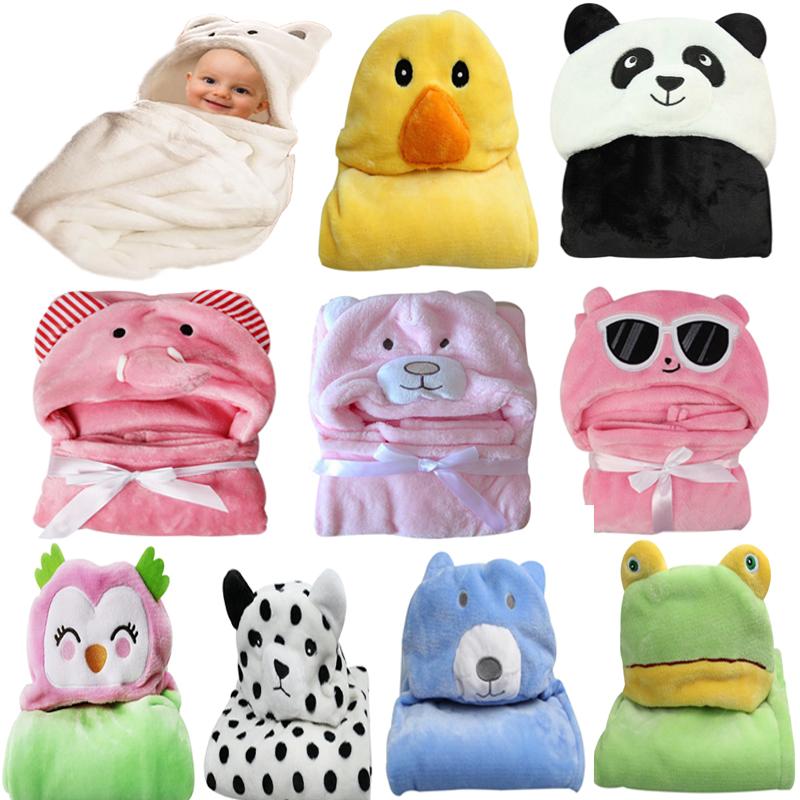 Soft Flannel Animal Design Plush Baby Blanket for Boys or Girls