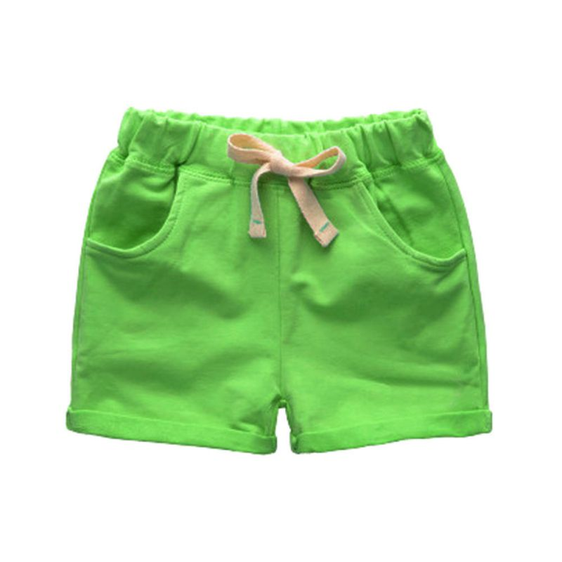 These shorts are perfect. True to size for 3T very average height/weight toddler. They dry quickly when playing around water or mud. Very light and soft, which is a plus on hot summer days.