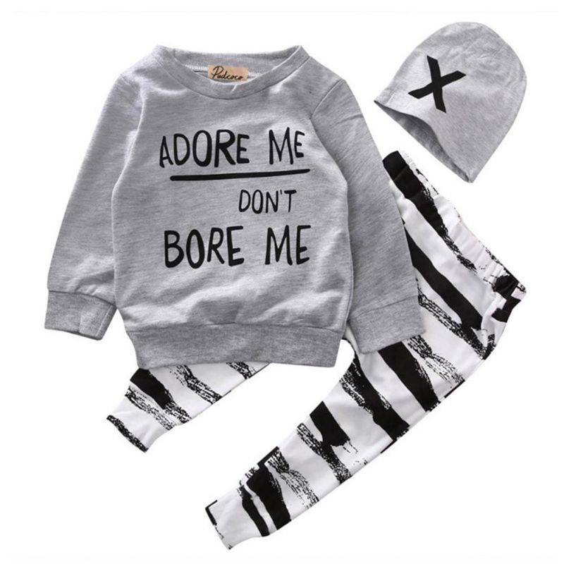 Baby-Ninos-Ninas-Long-Sleeve-Top-Long-Pants-Hat-Kids-Pullover-Outfit-Ropa