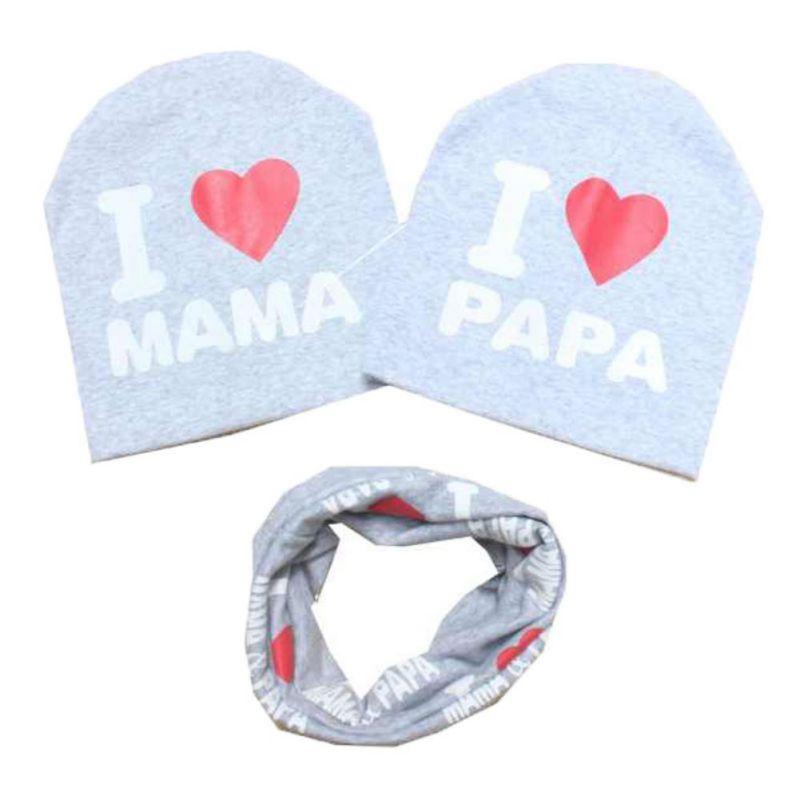Algodon-Hat-Printed-Caps-Scarf-Warp-Baby-Toddler-Kids-Boys-Chicas-Set-Calentar