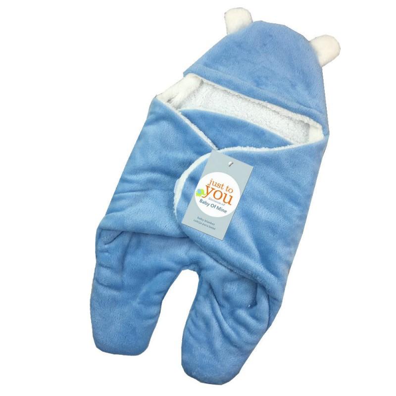 Baby-Infant-Fleece-Swaddle-Hooded-Swaddling-Newborn-Mantas-Wraps-Sleeping-Bag