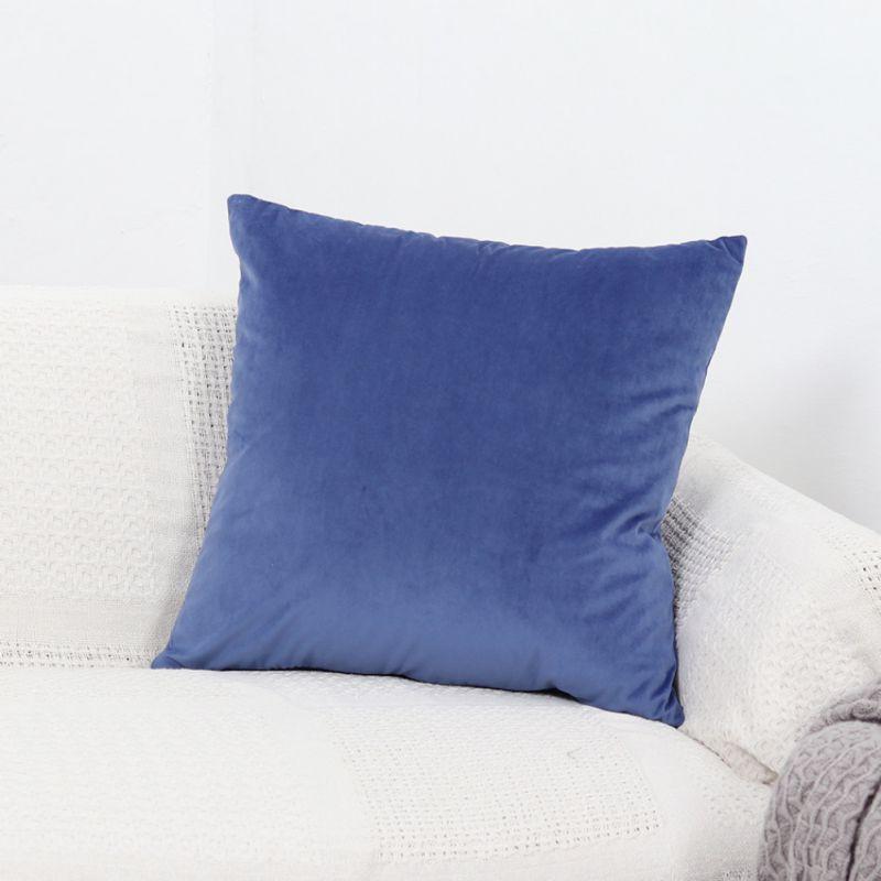 Soft Velvet Solid Multi Color Throw Pillow Cover Sofa
