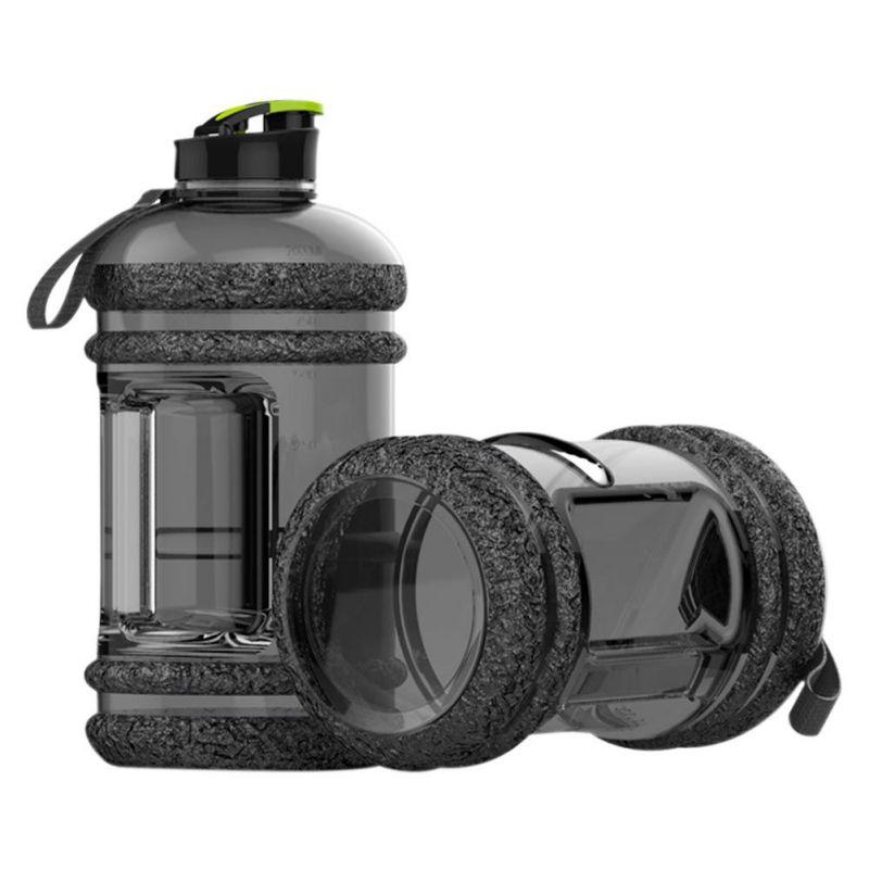 2.2L Large BPA Free Sport Gym Training Big Drink Water Bottle Cap Kettle Workout