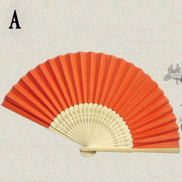 Hand Held Fans : Wholesale folding hand held paper fans wedding party decor
