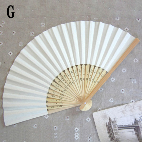 Chinese Bamboo Folding Paper Dancing Hand Fan Wedding Party Festival ...