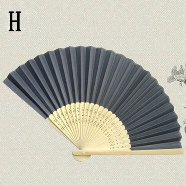 Stylish Decoration Summer Hand Paper Fans Favors Pocket Folding Bamboo Fan New
