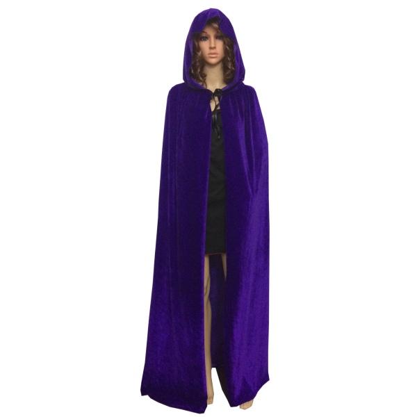 medieval vampire velvet hooded cloak long robe halloween