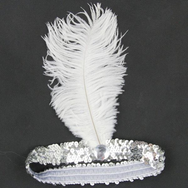 Feather Headband 1920's Flapper Sequin Headpiece Head Band Party Favor Hot Sale
