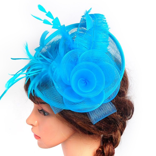 Women-Elegant-Fascinator-Hat-Feather-Hair-Headband-Wedding-Party-Headpiece-Clip