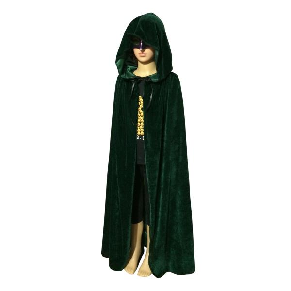 usa medieval velvet hooded cloak wicca long robe