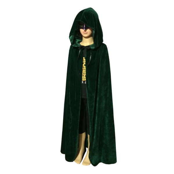Hoodie-Velvet-Long-Cloak-Cape-Pagan-Witch-Wicca-  sc 1 st  eBay & Hoodie Velvet Long Cloak Cape Pagan Witch Wicca Vampire Halloween ...