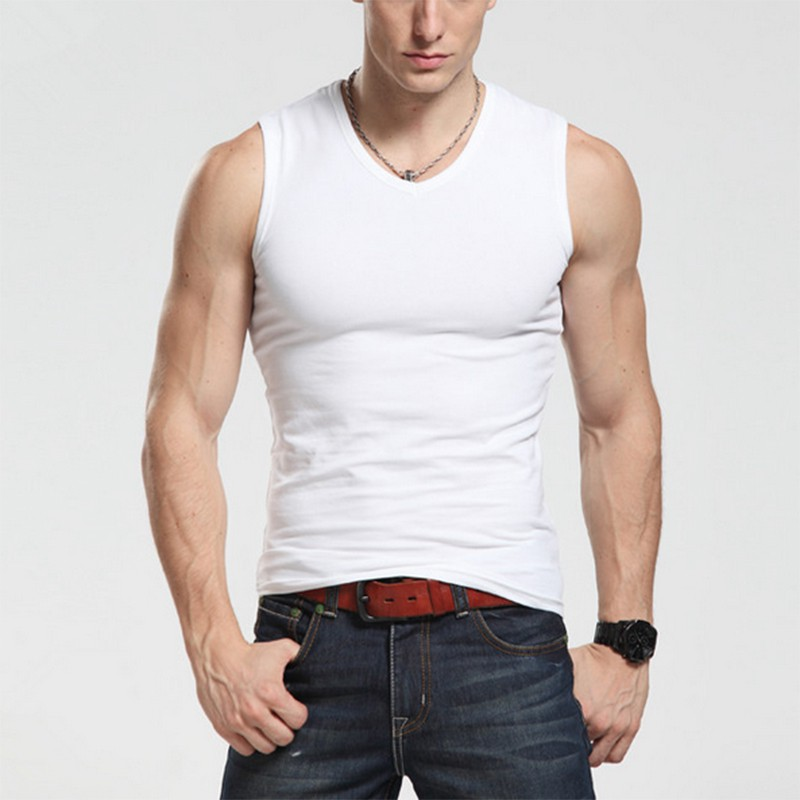 Mens Boys Casual Tank Top Muscle Sleeveless T Shirts