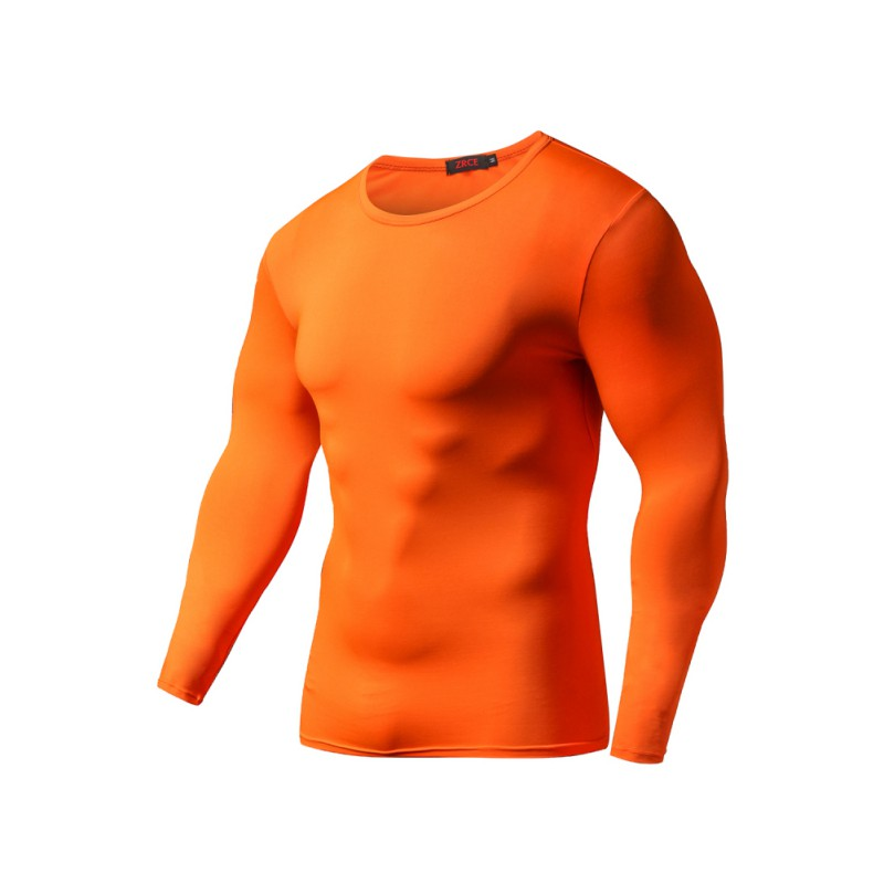 Mens Long Sleeve Athletic Sports T Shirt Compression Under