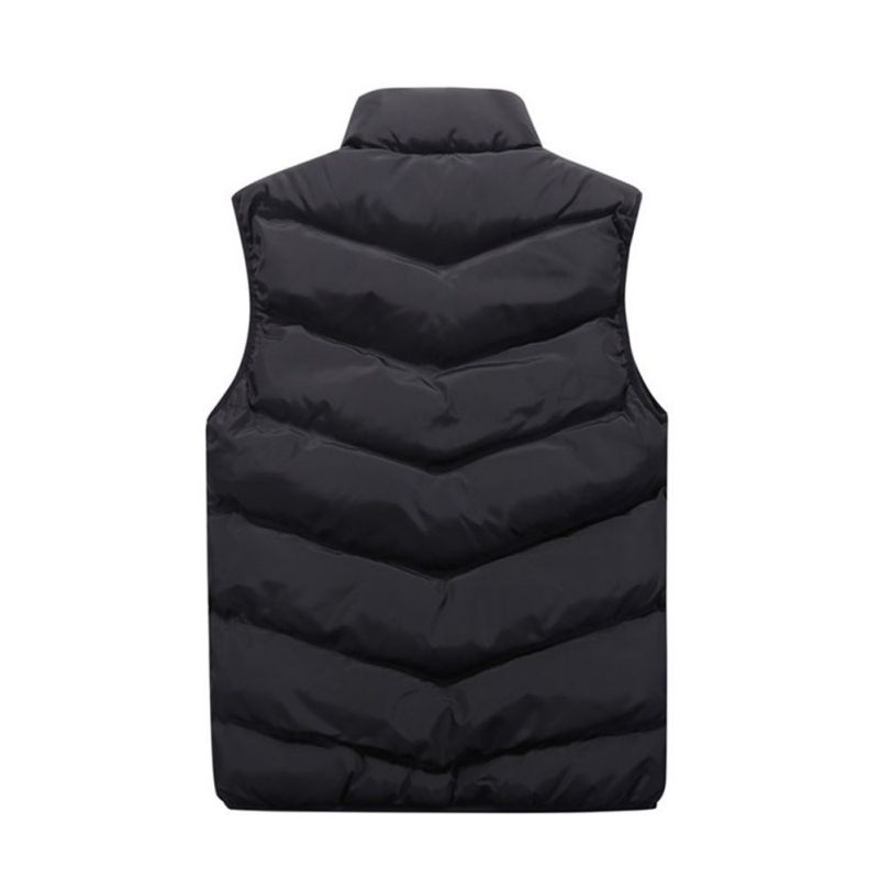 Men-039-s-Puffy-Puffer-Sleeveless-Jacket-Winter-Warm-Thick-Vest-Quilted-Thick-Coat thumbnail 14