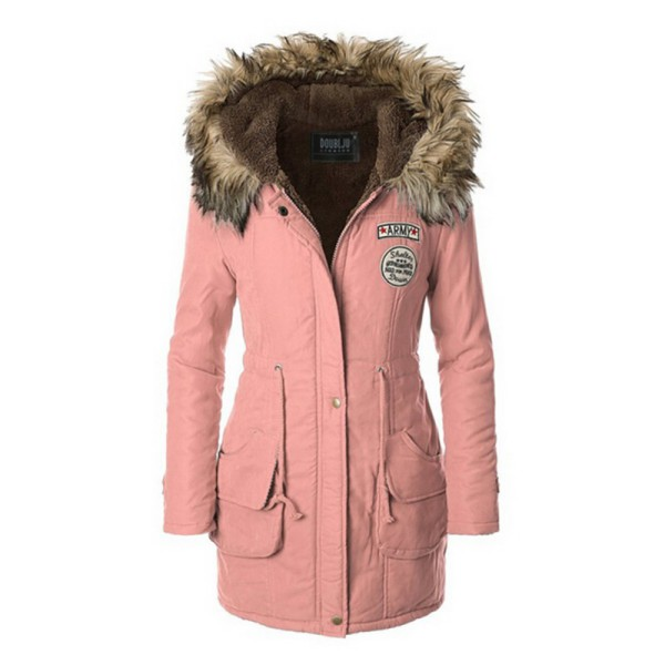Women Winter Coat Hooded Jacket Slim Long Parka Outwear Warm Coat