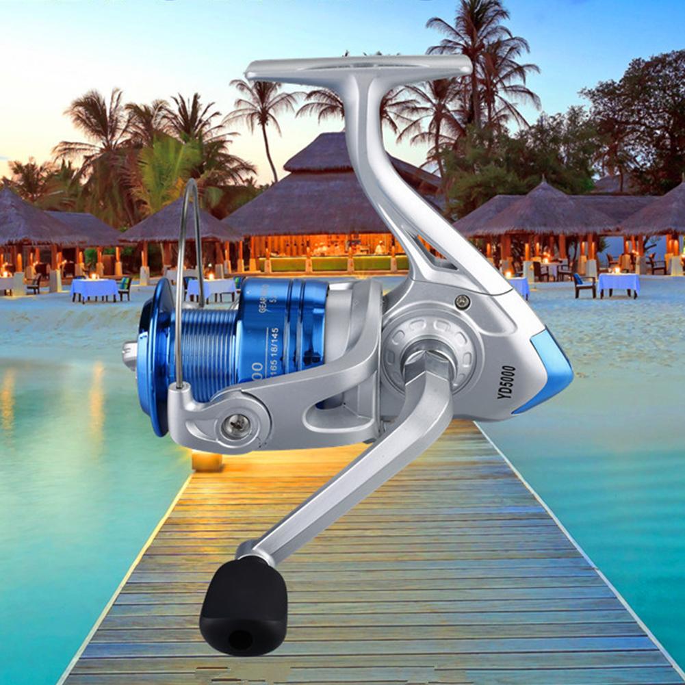 YD500-YD6000 Fishing Spinning Reel 12BB Metal Spool Folding Arm Left Right 5.5:1