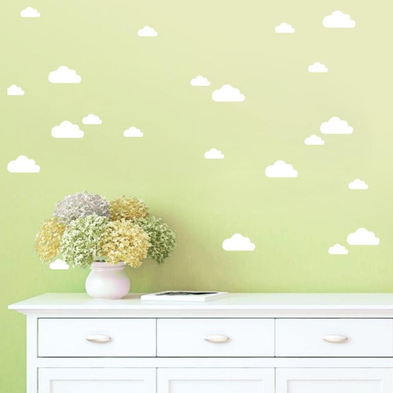 28Pcs Cloud Wall Art Boys/Girls Bedroom Nursery Children Kids Room ...
