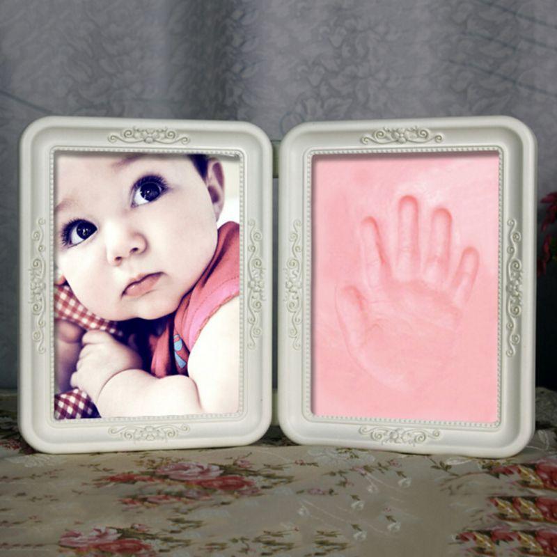 Arcilla suave Pie de imprenta Lindo Bebé Marco Foto Hágalo usted ...