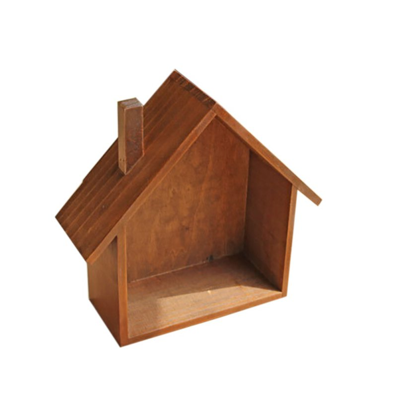 Wooden Wall Boxes : Cute storage box holder wooden hanging on house home