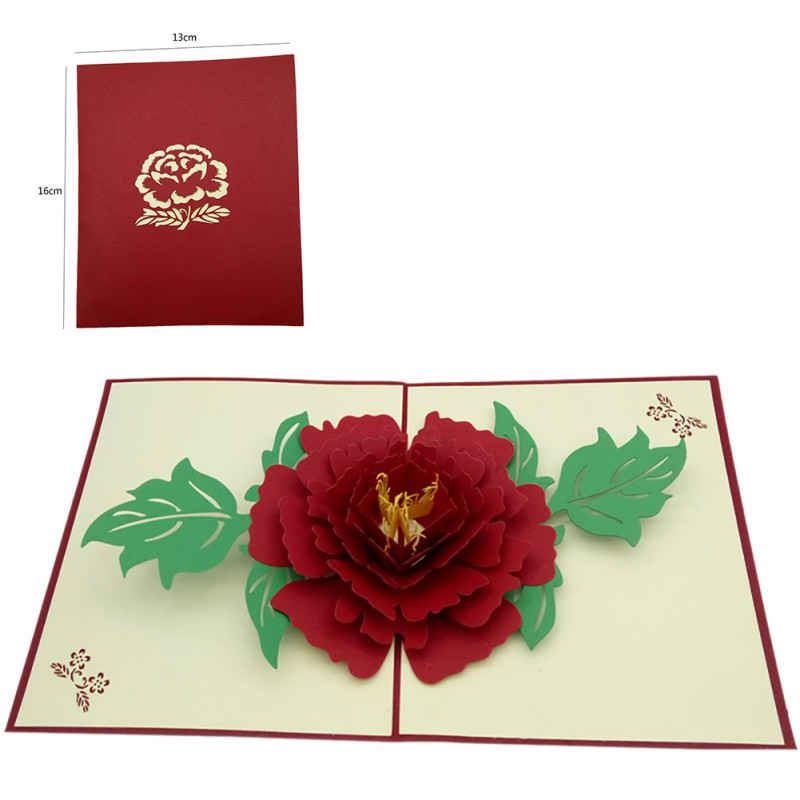 Multi Patterns 3D Pop Up Greeting Cards Birthday Valentine