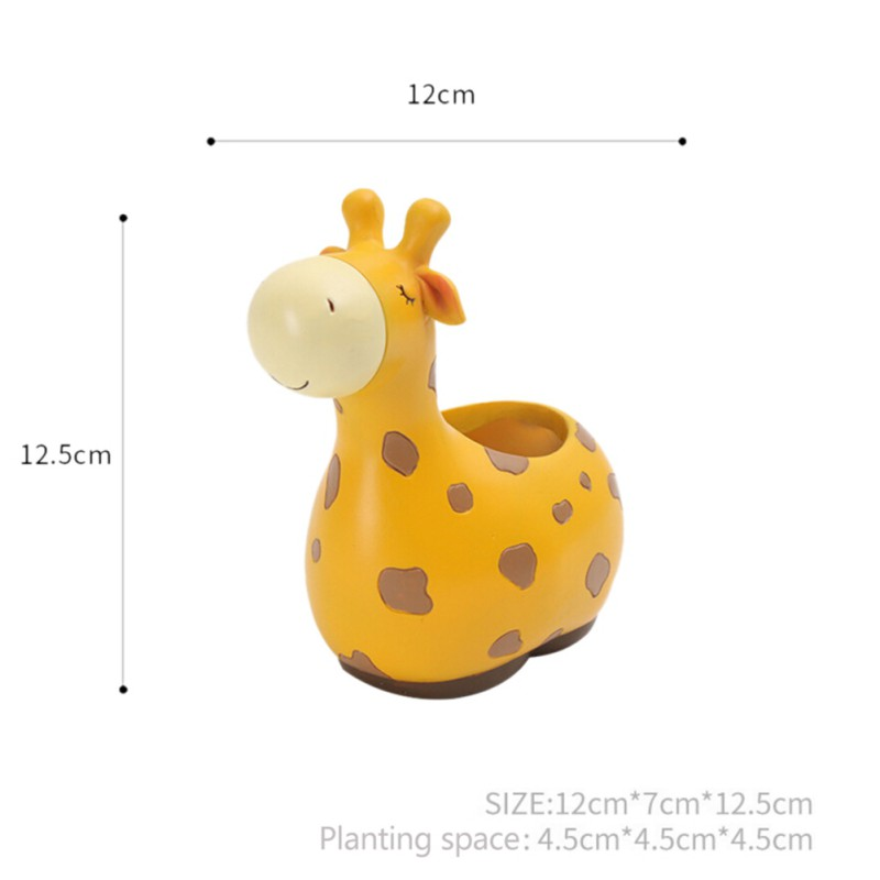 Home-Cute-Animal-Desk-Flowerpot-Resin-Flower-Pot-Planter-Succulent-Plants-Decor