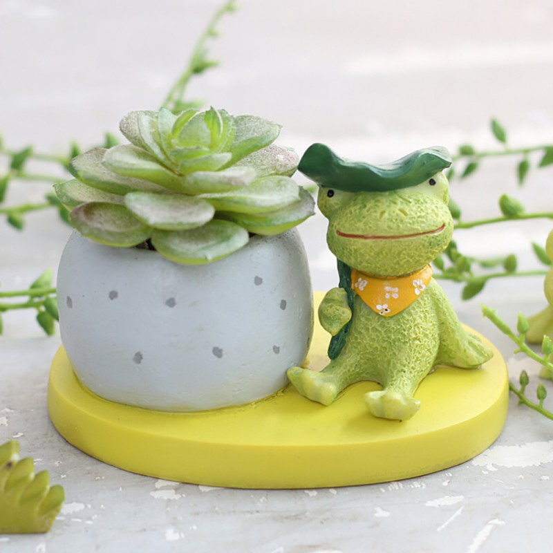 animal flowerpot cute resin flower pot planter garden. Black Bedroom Furniture Sets. Home Design Ideas