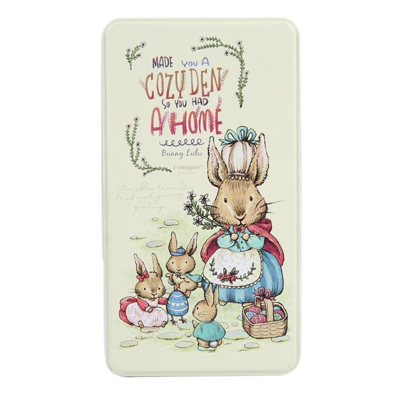 Metal-Rabbit-Tote-Rectangular-Easter-Tin-Box-Jewelry-Case-Tea-Coin-Key-Candy-Box