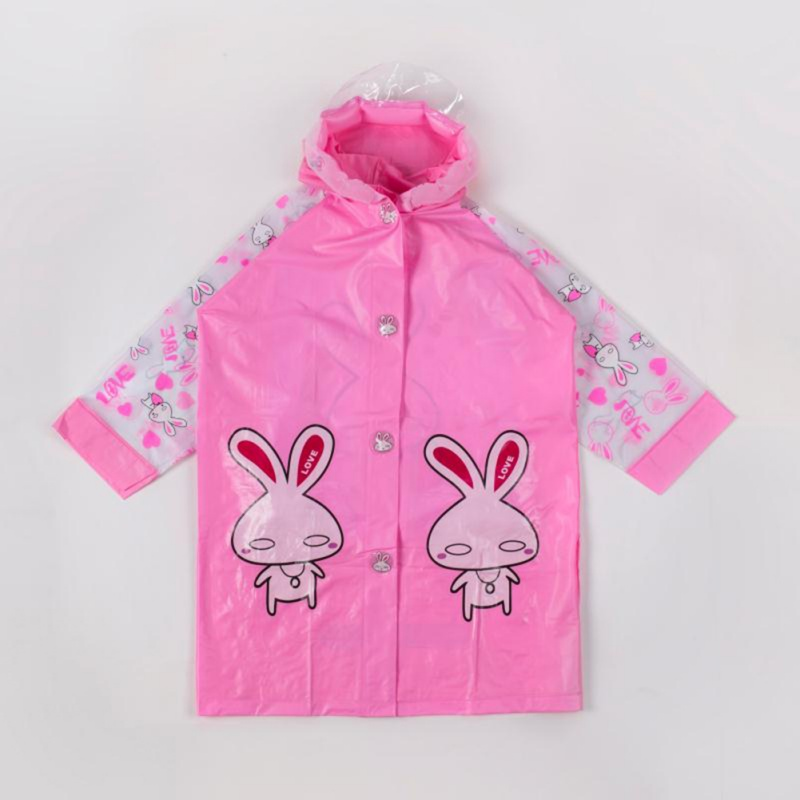 Baby Kids Boys Girls Cartoon Animals Pattern Rain Coat Hoode
