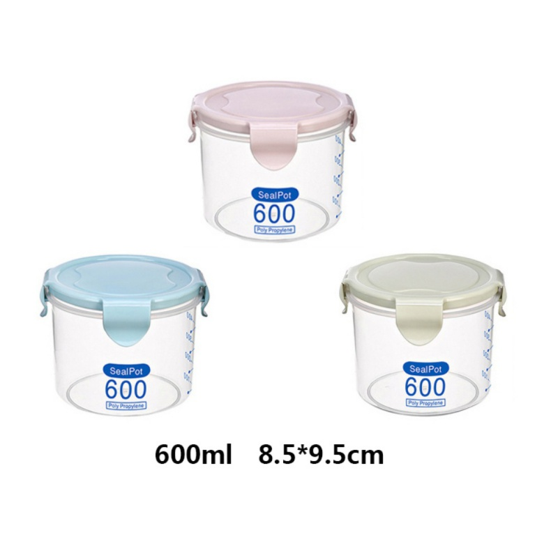 Air Tight Food Container Storage Set Plastic Clear Kitchen