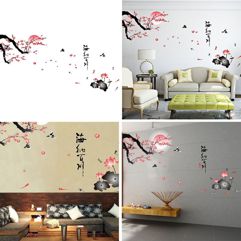 New diy 3d various views pvc wall sticker poster bedroom for Bedroom 3d wall stickers