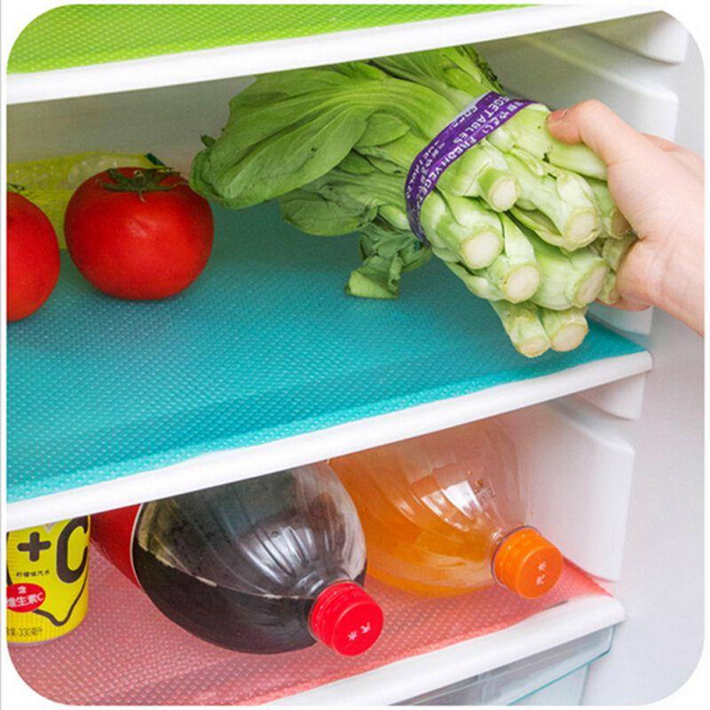 4x kuche matte kuhlschrank obst gemuse antischimmelmatte for Gemüse kühlschrank