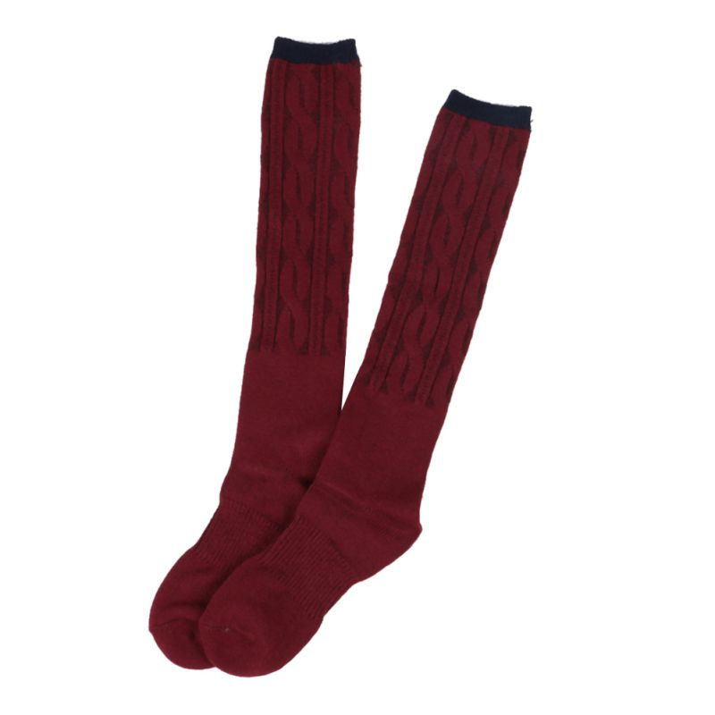 womens knee high socks cotton boot knit thick