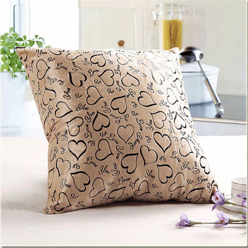 Luxury Floral Cushion Heart Shape THROW PILLOW CASES CUSHION COVERS Sofa Decor eBay