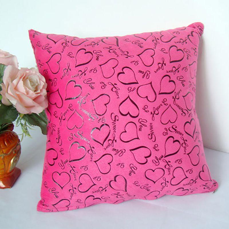 Luxury Floral Cushion Heart Shape Throw Pillow Cases