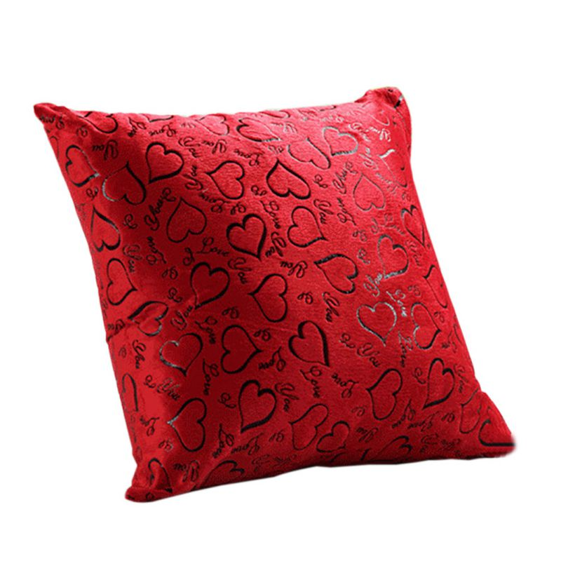 Luxury Floral Cushion Heart Shape THROW PILLOW CASES CUSHION COVERS Sofa Decor eBay
