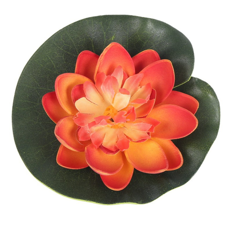 Au artificial fake water lily floating flower garden pool for Garden pool ornaments
