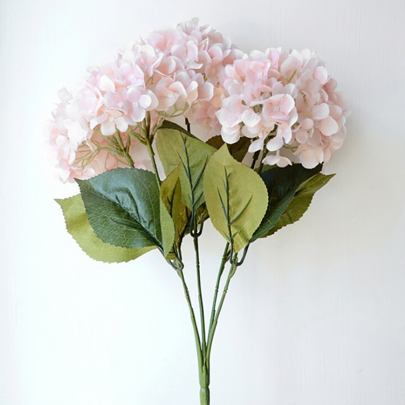 Artificial Silk Fake Flowers Wedding Bouquet Bridal Hydrangea