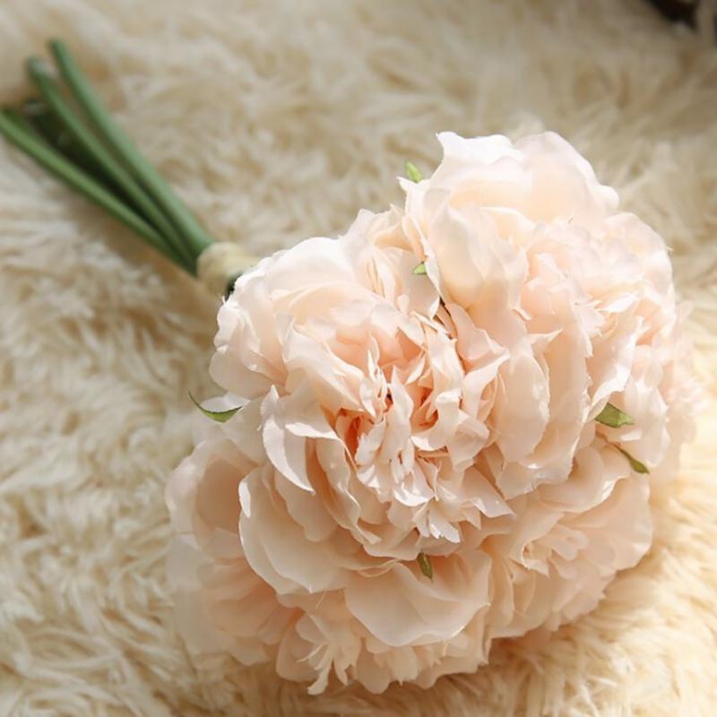 Kunstliche-gefalschte-Silk-Blumen-Pfingstrose-Garland-Hochzeit-Room-Decoration