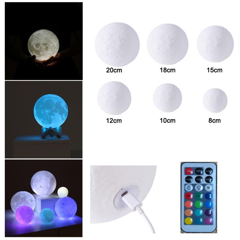 Wonderful 3D Magical LED Luna Night Light Moon Lamp