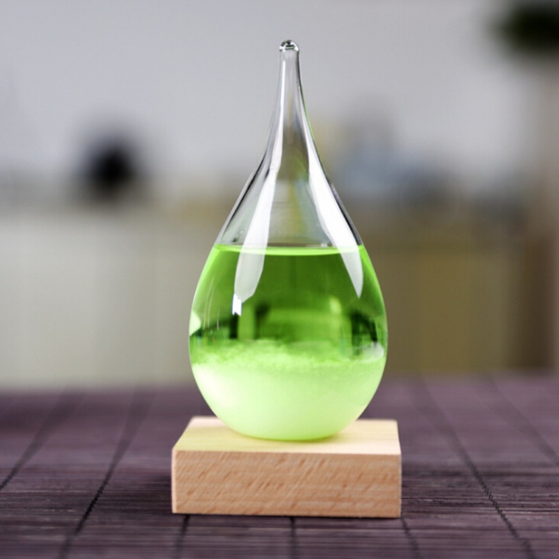 AU-Water-Drop-Shaped-Weather-Forecast-Crystal-Storm-Glass-Bottle-Home-Decor