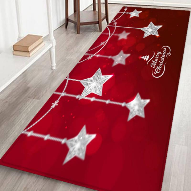 santa door floor mats christmas area rug holiday