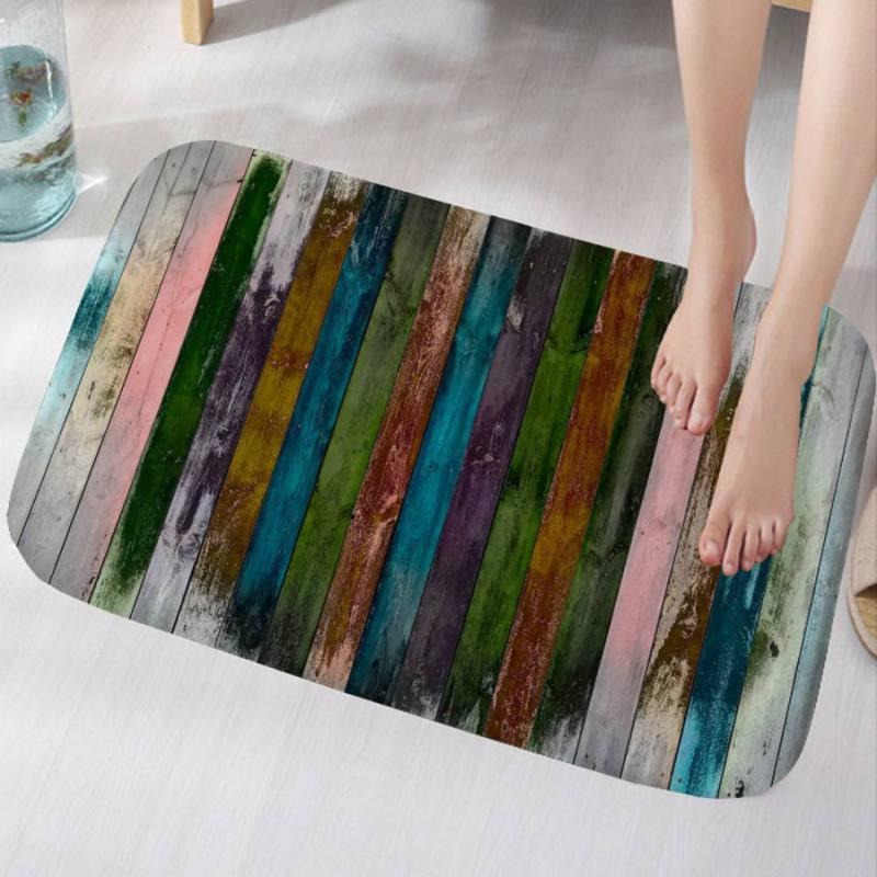 3D Print Flannel Non-slip Door Mat Kitchen Floor Mat Bath Ar