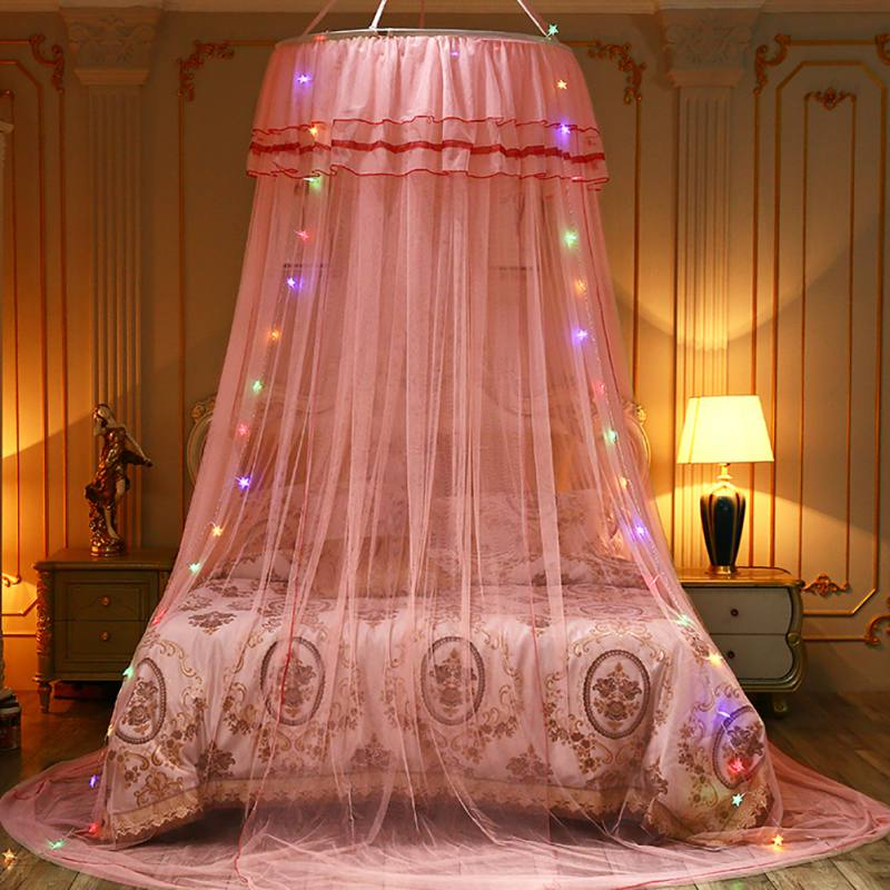 Room-Decor-Mesh-Hung-Dome-Mosquito-Net-Bed-Canopy-Princess-Fits-Crib-Double-Bed