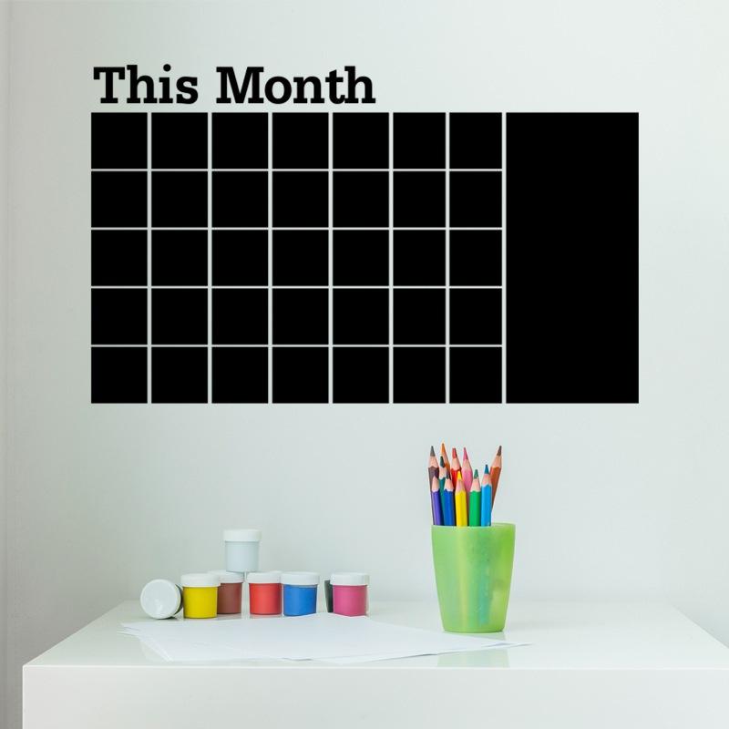 weekly planner calendar wall sticker chalkboard blackboard shape