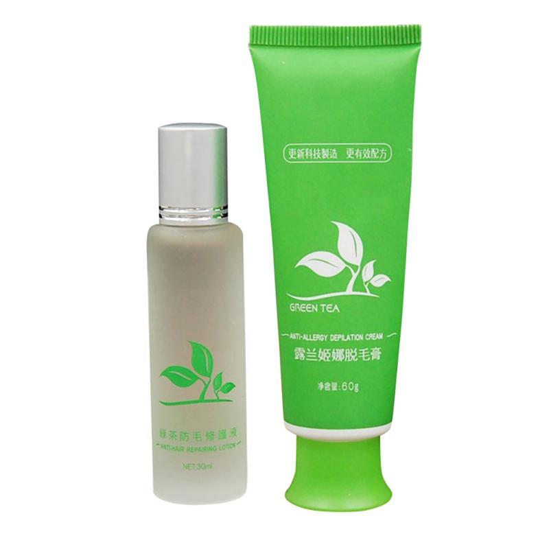 Green Tea Fast Permanent Facial Body Hair Removal Cream