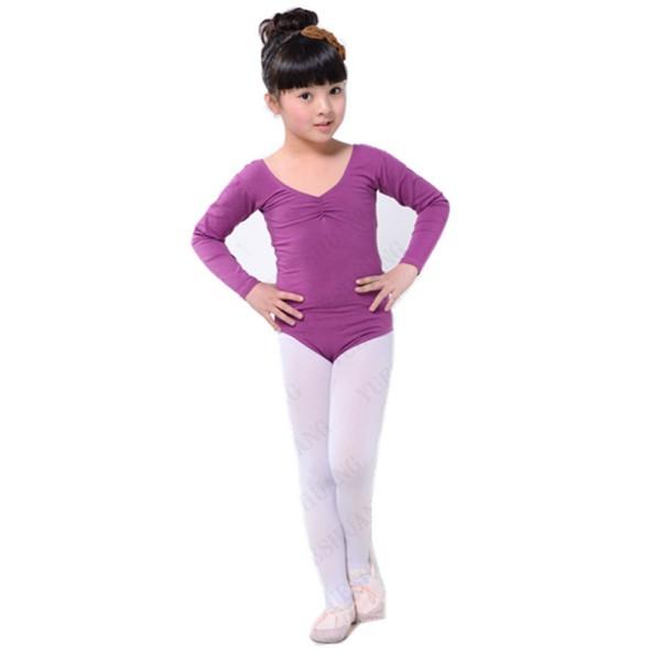 Kid-Girl-Long-Sleeve-Ballet-Dance-Dress-Toddler-  sc 1 st  eBay & Kid Girl Long Sleeve Ballet Dance Dress Toddler Fitness Gym Wear ...