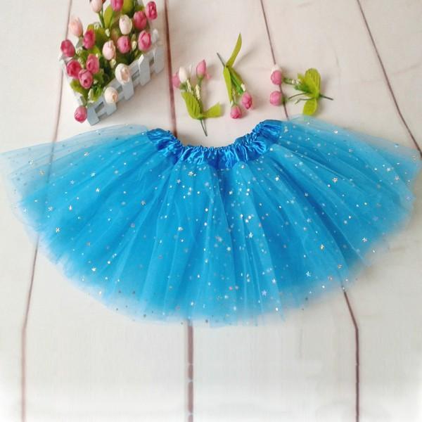 Girls Sparkle Glitter Sequins Stars Princess Dress Dance